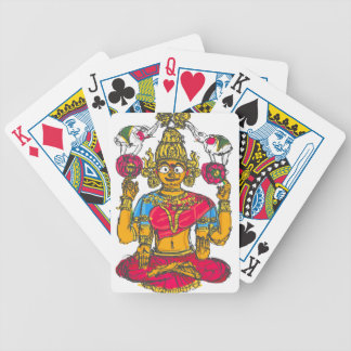 Lakshmi/Shridebi na pose da meditação Jogo De Carta
