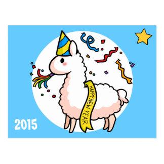 Lama do feliz ano novo cartões postais