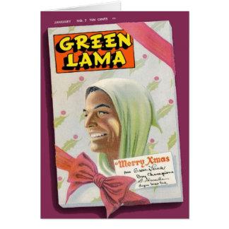 Lama verde #7 cartão