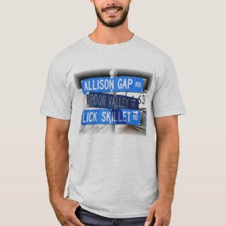 Lamba o frigideira, o vale pobre & o Allison Gap Camiseta