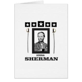 lâmina dobro Sherman cw Cartão Comemorativo
