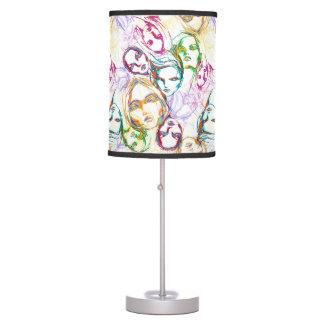lâmpada da cara do arco-íris