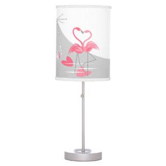 Lâmpada da lua do amor do flamingo grande