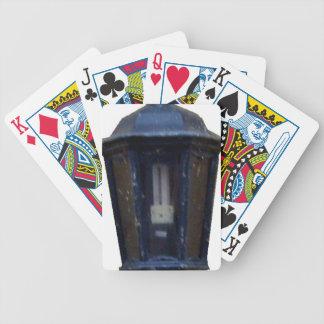 Lâmpada da luz de rua do vintage baralhos para pôquer