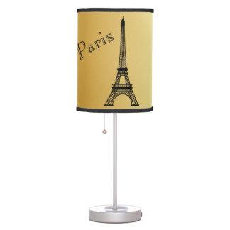 Lâmpada da torre Eiffel do ouro