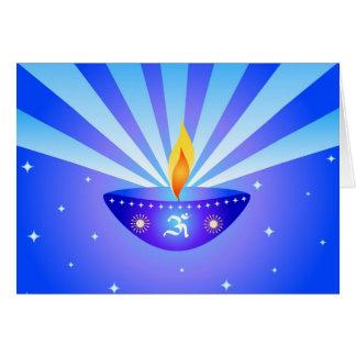 Lâmpada de Diwali - cartão