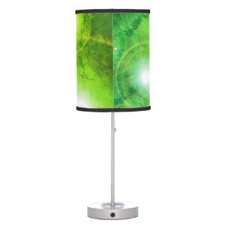 Lâmpada de mesa verde do universo da estrela