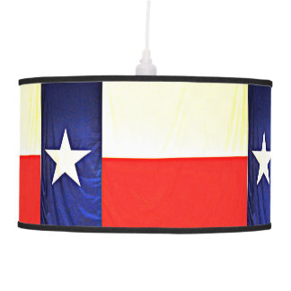 Lâmpada de pendente da bandeira de Texas