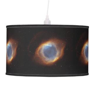 Lâmpada de pendente da nebulosa da hélice