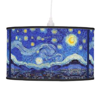 Lâmpada de pendente da noite estrelado