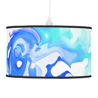 Lâmpada de pendente do abstrato do líquido do azul