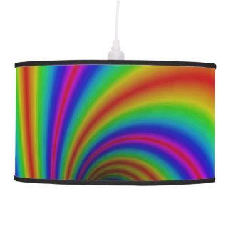 Lâmpada de pendente do redemoinho do arco-íris