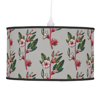 Lâmpada de pendente floral retro do Sprig