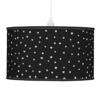 Lâmpada de pendente preta estrelado do design do