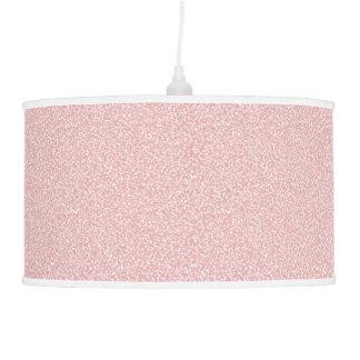 Lâmpada de pendente salpicada cor-de-rosa