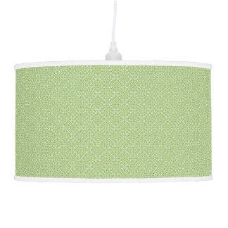 Lâmpada de pendente verde de Paisley