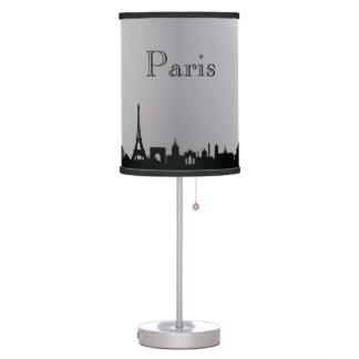 Lâmpada de prata da silhueta da skyline de Paris
