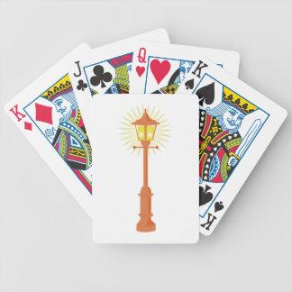Lâmpada de rua baralho para poker