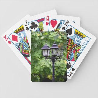 Lâmpada de rua baralhos para poker