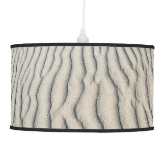 Lâmpada de suspensão com textura da areia do mar