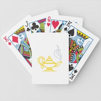 Lâmpada do conhecimento carta de baralho