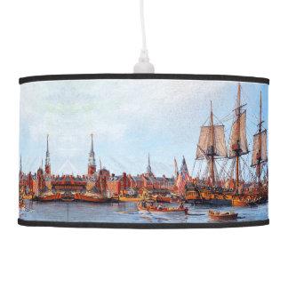 Lâmpada do porto de Boston do navio da fragata do