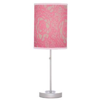 Lâmpada do teste padrão do rosa do rosa quente