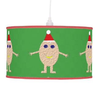 Lâmpada engraçada do ovo do Natal