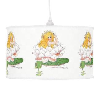 Lâmpada floral bonito do berçário da criança de