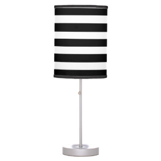 Lâmpada listrada preta & branca