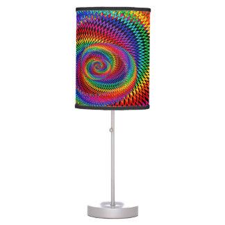 Lâmpada ondulada da espiral do arco-íris