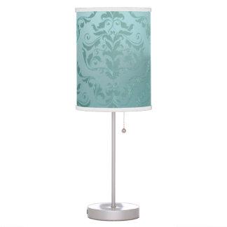 Lâmpada ou Lampshade antigo do vintage do Aqua