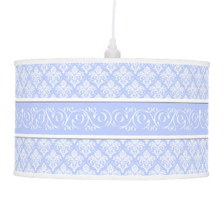 Lâmpada - pendente - damasco do azul de Wedgewood