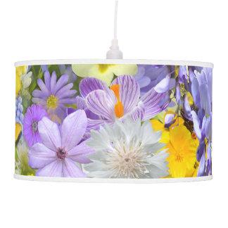 Lâmpada - pendente - flores e borboletas