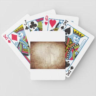 Lâmpada surpreendente afligida do vintage marrom cartas de baralhos