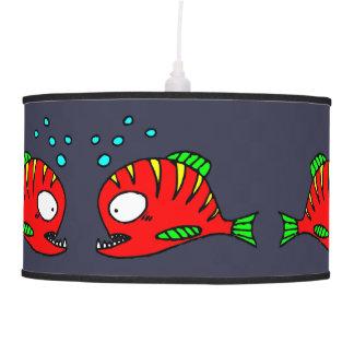 Lâmpada vermelha dos peixes