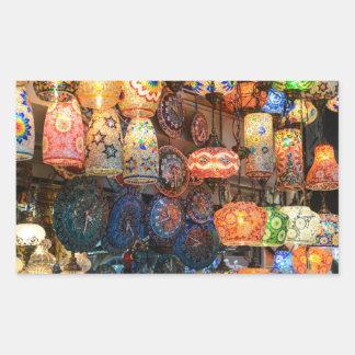 Lâmpadas de vidro turcas para a venda no mercado adesivo retangular