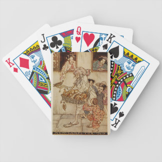 Lâmpadas novas das noites árabes para a ilustração cartas de baralhos