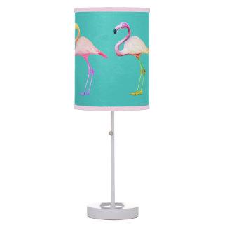 Lampshade do flamingo do arco-íris abajur de mesa