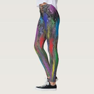 Lança-chamas colorido leggings
