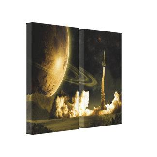 Lançamento de Rocket do vintage Impressão Em Tela