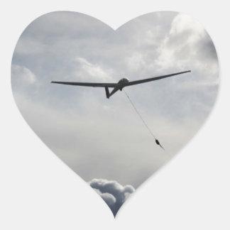 Lançamento de Sailplane Adesivo Coração
