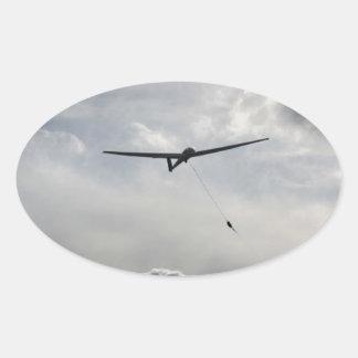 Lançamento de Sailplane Adesivo Oval