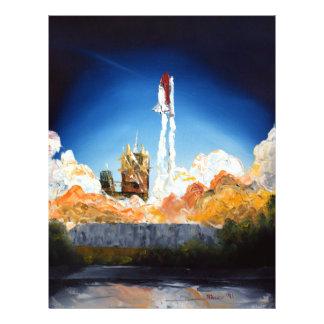 Lançamento do vaivém espacial flyer 21.59 x 27.94cm