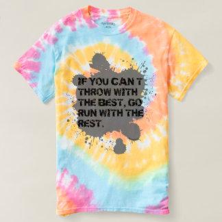 Lance com a Melhor camisa da tintura do laço