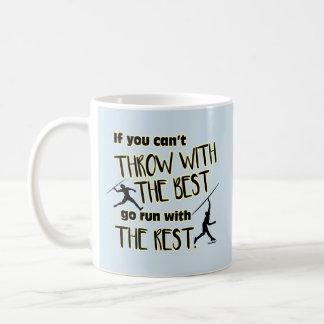 Lance de dardo com a Melhor caneca de café