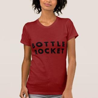 Lance uma garrafa Rocket (o preto) Camiseta