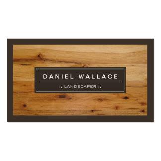 Landscaper - olhar de madeira elegante da grão cartão de visita