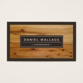 Landscaper - olhar de madeira elegante da grão cartão de visitas