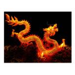 Lanterna chinesa do dragão cartão postal